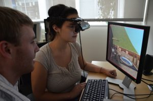 Image of Students experiencing VR